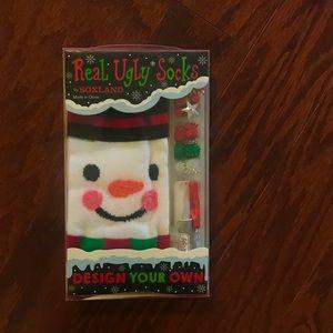 Real Ugly Christmas Socks snowman kit